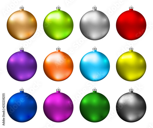 Colorful Christmas Balls.Colorful Christmas Baubles Color Spectrum Of Christmas