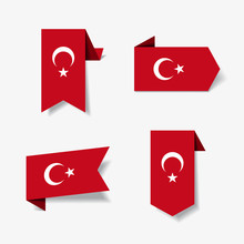 Turkish Flag Stickers And Labe...