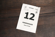Karta Z Kalendarza - 12 Listop...
