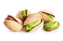 Pistachios Isolated On A White...
