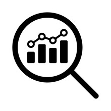 View Financial Analytics Or Metrics Research Line Art Vector Icon For Finance Apps And Websites
