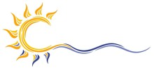 Symbol Sun And Sea.