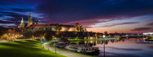 Royal Castle Of Wawel By Morning Blue Hour (panoramic)