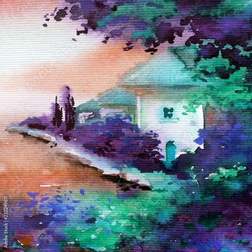 Watercolor colorful bright ...