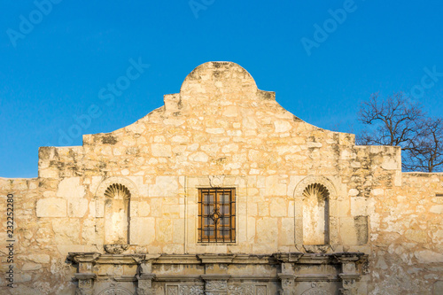 The iconic campanulate on the Alamo, San Antonio, Texas. Canvas Print