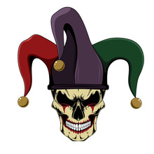 Vector Image Of A Jester Skull.