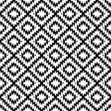 Jednolity wzór Turecki dywan biały czarny. Mozaika mozaika orientalny kilim dywan z tradycyjnym ludowym ornamentem geometrycznym. Styl plemienny. Wektor - 232257253