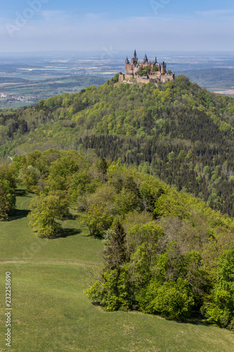 Poster Hill Hohenzollern Castle, Germany