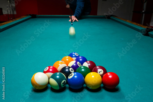 Billiard game picture Fototapeta