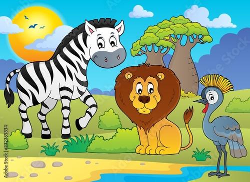 Staande foto Voor kinderen African nature theme image 5