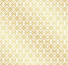 Seamless Gold Art Deco Trellis Pattern Background