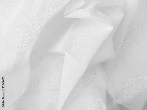 Garden Poster Lotus flower crumpled white fabric