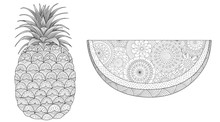 Pineapple And Watermelon Set F...
