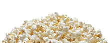 Popcorn Pile Or Heap Isolated On White Background