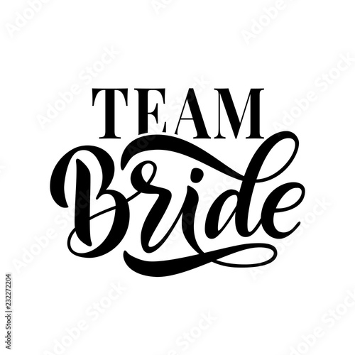 Cuadros en Lienzo Bride team word calligraphy fun design