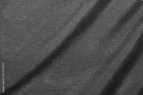 Fotobehang Stof Closeup of beautiful wrinkle black fabric texture