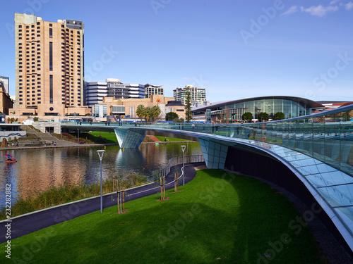Adelaide bridgeway Canvas Print