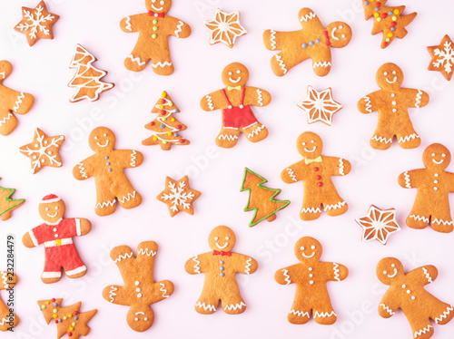 Set Of Different Gingerbread Cookies Isolated Buy This Stock Photo