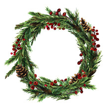 Christmas Wreath With  Christm...