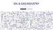 Oil & Gas Industry Doodle Concept