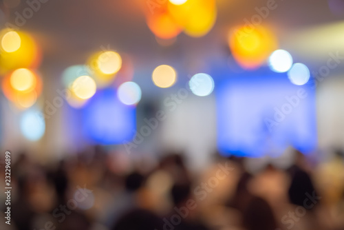 Fotografie, Obraz  Blurred The participants in the meeting,Conference and event on stage concept an