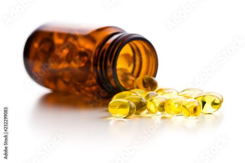 Fototapeta Omega 3 gel capsules. obraz na płótnie