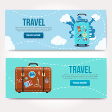 Travel Vector Logo Design Temp...