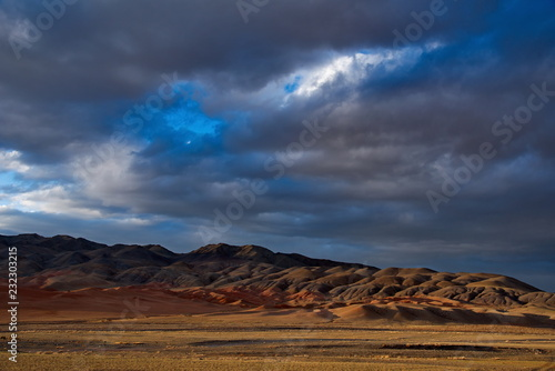 The unique beauty of the sky over The Mongolian steppes