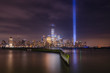 Tribute In Light from Jersey City Waterfront Walkway