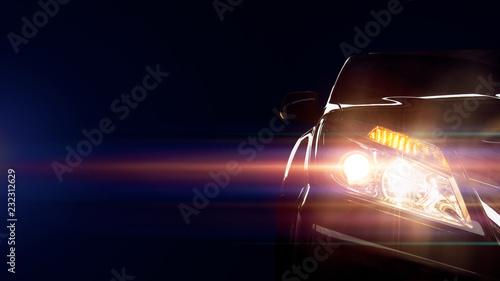 Obraz Car of light - fototapety do salonu