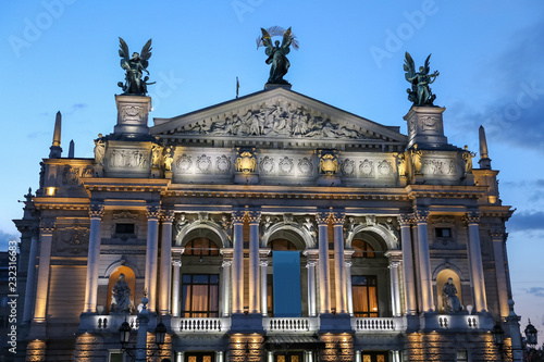 Foto op Canvas Theater Lviv Opera House in Ukraine
