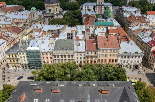 Foto op Canvas Oost Europa Aerial view of Lviv, Ukraine