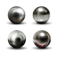 Set Of Steel Or Silver Balls W...