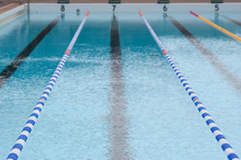 Lane Divider In A Swimming Pool For Training