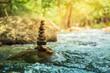 Leinwandbild Motiv Stone towers of zen