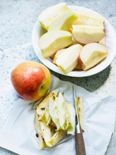 Sliced Apples With Core Removed