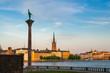 View of Monument Engelbrekt near Stockholm City Hall, Sweden