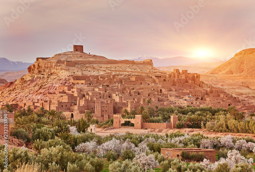 Kasbah Ait Ben Haddou in the Atlas Mountains of Morocco Fotobehang