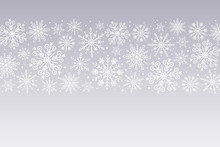 Snowflakes Background. White S...