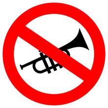 No Horn Sound Vector Sign