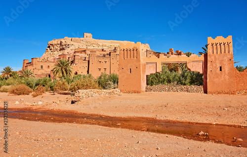 Kasbah Ait Ben Haddou in the Atlas Mountains of Morocco Fototapete