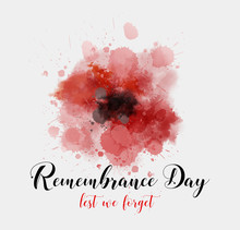 Remembrance Day Background Wit...