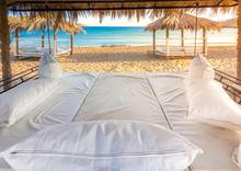 Beach Lounge, Sun Bed On Sea V...