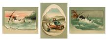Vintage Easter Card. Set 4.
