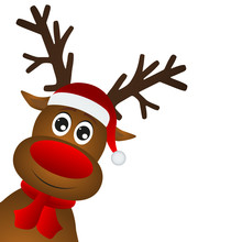 Funny Cartoon Christmas Reindeer