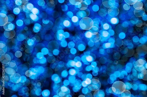 Photo fondo abstracto azul desenfocado de luces