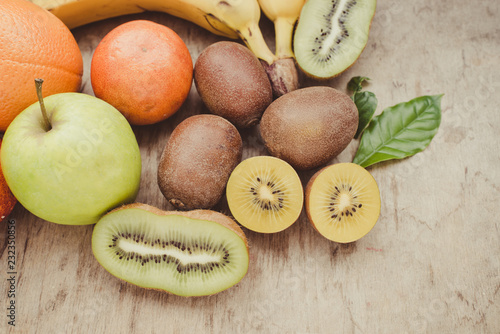 Keuken foto achterwand Vruchten Exotic fruits close up/toned photo