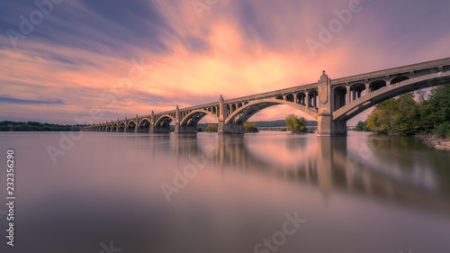 Columbia–Wrightsville Bridge, PA. | Veterans Memorial Bridge Fototapeta