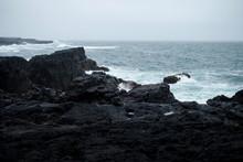 Stormy Ocean In Iceland