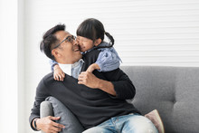 Asian Father And Daughter Play...